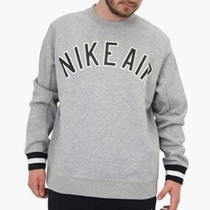 Nike Air gray fleece sweatshirt